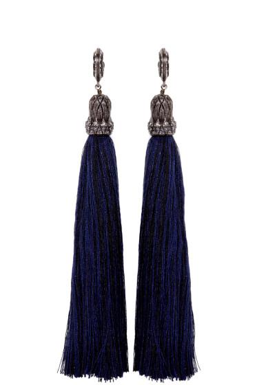 Lanvin - Black Tassel Earrings