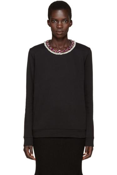 Lanvin - Black Rhinestone Collar Pullover