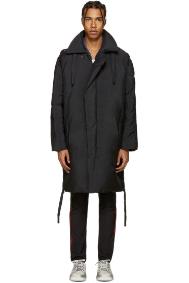 Lanvin - Black Asymmetric Down Parka