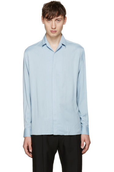 Lanvin - Blue Open Collar Shirt