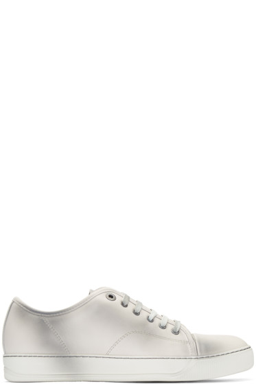 Lanvin - Ivory Leather Stained Sneakers