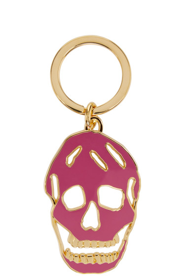 Alexander McQueen - Purple & Gold Cut-Out Skull Keychain