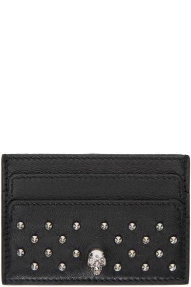 Alexander McQueen - Black Studded Card Holder