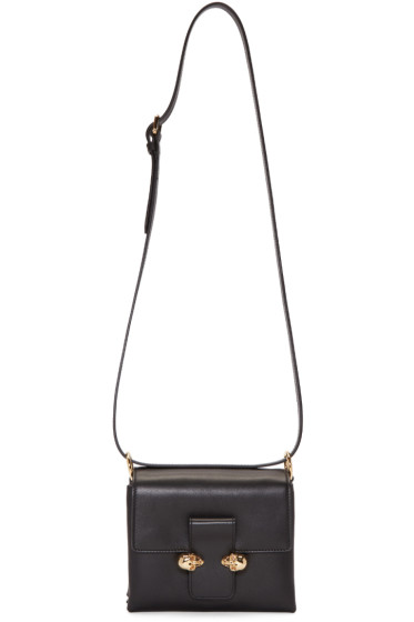 Alexander McQueen - Black Twin Skull Shoulder Bag