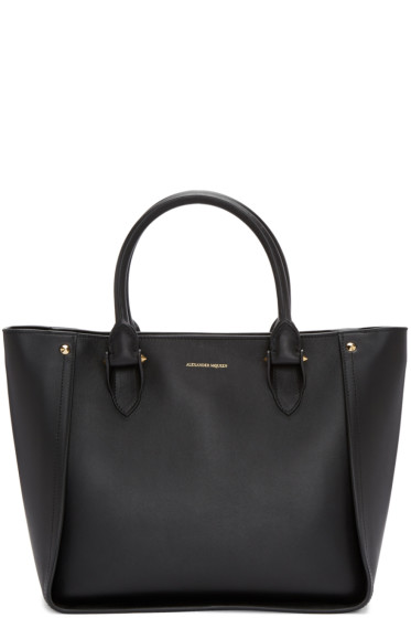 Alexander McQueen - Black Inside-Out Shopper Tote