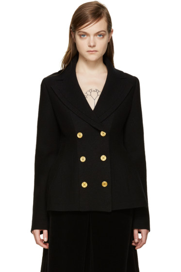 Alexander McQueen - Black Double-Breasted Cardigan