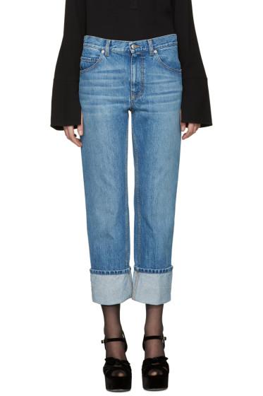 Alexander McQueen - Blue Cuffed Jeans