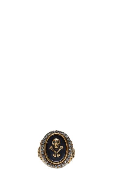Alexander McQueen - Silver Skull & Cross Bone Ring