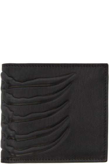 Alexander McQueen - Black Leather Rib Cage Wallet