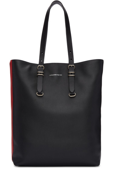 Alexander McQueen - Black Leather Tote Bag