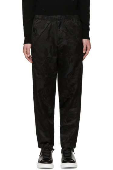 Alexander McQueen - Black Camo Skull Lounge Pants