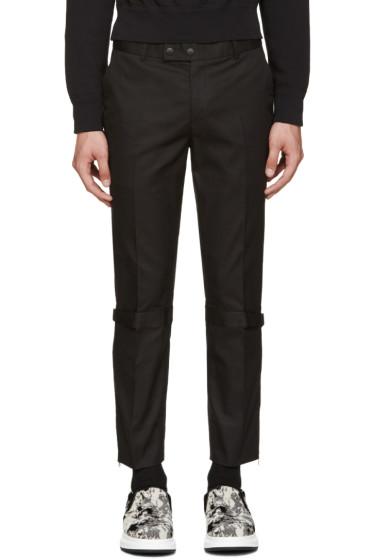 Alexander McQueen - Black Straps & Zips Trousers