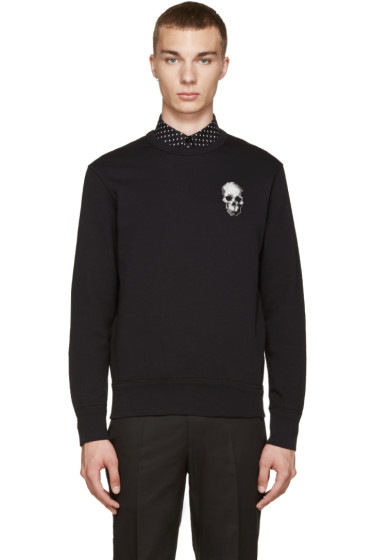 Alexander McQueen - Black Embroidered Skull Pullover