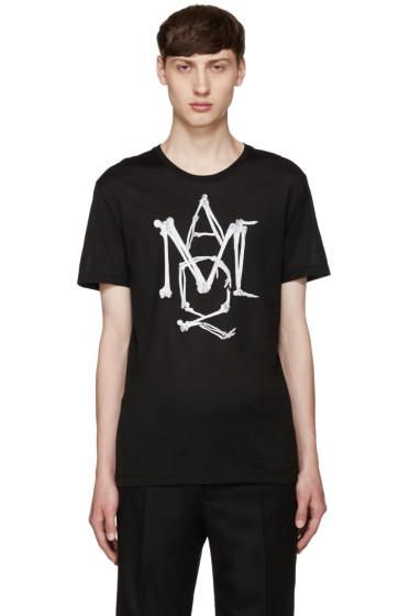 Alexander McQueen - Black Skeleton Logo T-Shirt