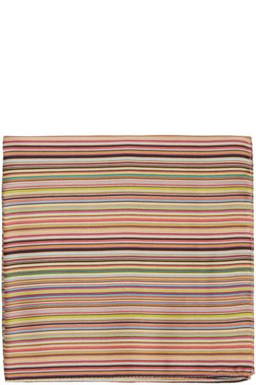 Paul Smith - Multicolor Striped Pocket Square