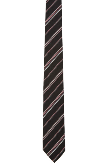 Paul Smith - Black Striped Silk Tie