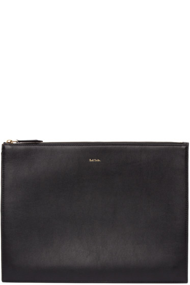 Paul Smith - Black & Multicolor Leather Document Holder