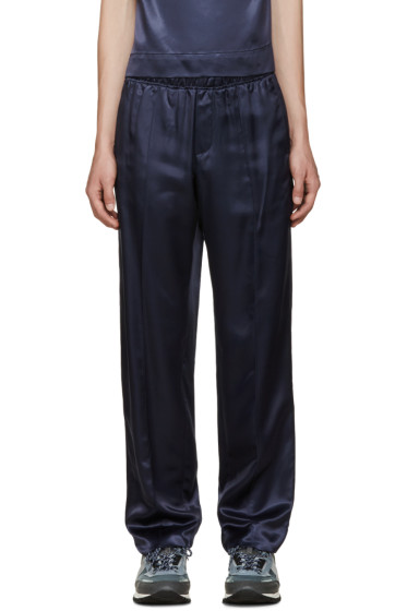 Opening Ceremony - Navy Satin Twill Trousers