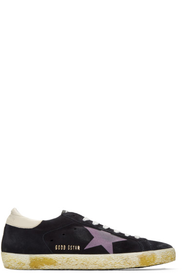 Golden Goose - Black Suede Superstar Sneakers
