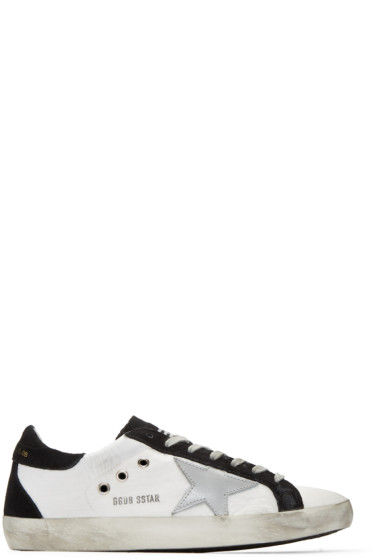 Golden Goose - White Nylon Superstar Sneakers