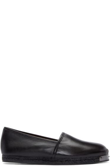 Giuseppe Zanotti - Black Leather Loafers