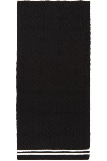 Comme des Garçons Shirt - Black Cable Knit Scarf