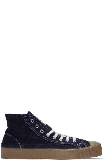 Comme des Garçons Shirt - Blue Denim Spalwart Edition Sneakers