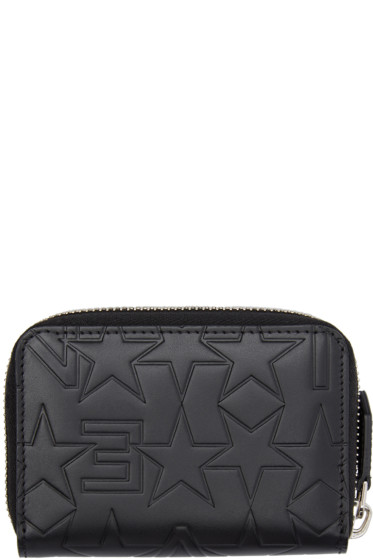 Givenchy - Black Star Embossed Wallet