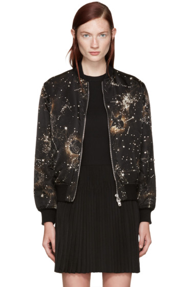 Givenchy - Black Constellation Bomber Jacket