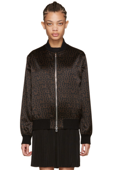 Givenchy - Black & Brown Stars Bomber Jacket