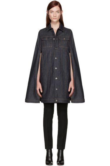 Givenchy - Blue Denim Cape Jacket
