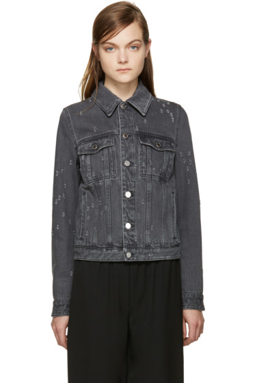 Givenchy - Grey Distressed Denim Jacket
