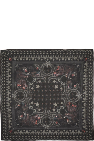 Givenchy - Black Monkey Brothers Scarf