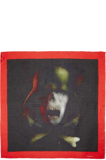 Givenchy - Multicolor Skull Scarf