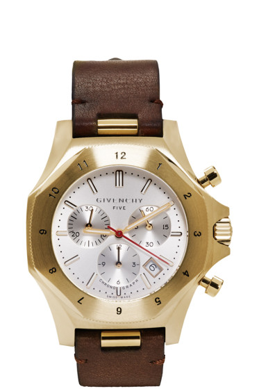Givenchy - Gold Five Chronograph Watch