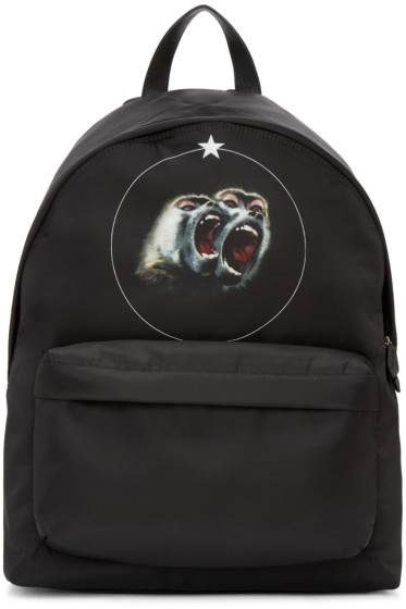 Givenchy - Black Nylon Monkey Brothers Backpack