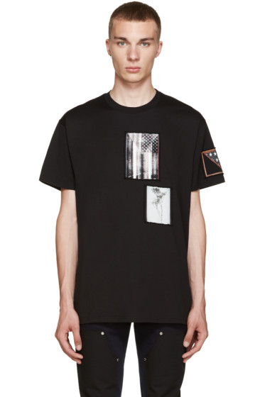 Givenchy - Black Patchwork T-Shirt