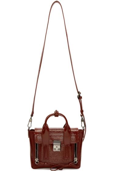 3.1 Phillip Lim - Burgundy Patent Leather Mini Pashli Satchel