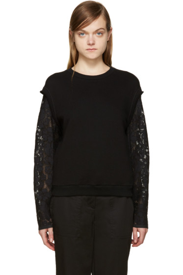 3.1 Phillip Lim - Black Lace Sleeve Pullover