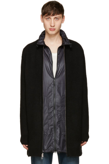 3.1 Phillip Lim - Black Wool Zip-Up Cardigan