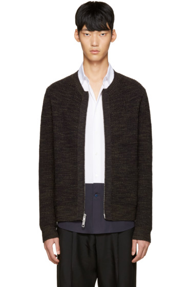3.1 Phillip Lim - Navy Wool Zip-Up Sweater