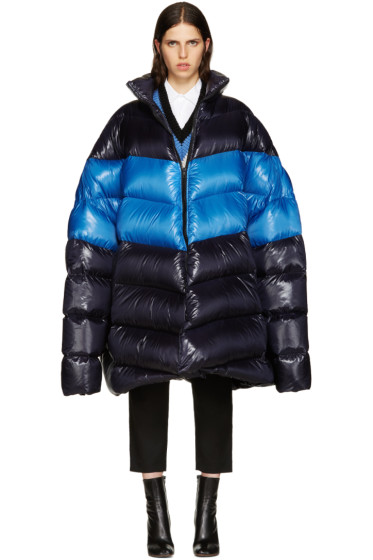 Raf Simons - Navy Down Oversized Coat