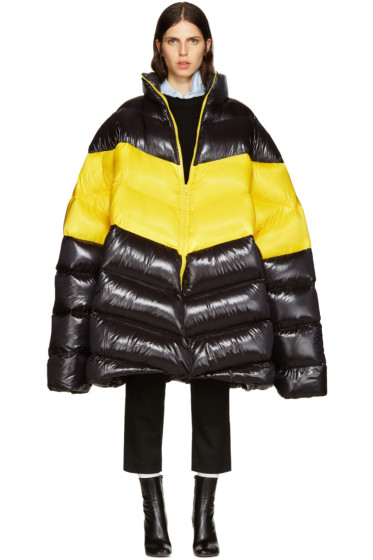 Raf Simons - Black Down Oversized Coat