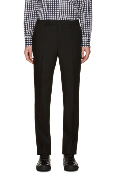 Raf Simons - Black Wool Trousers
