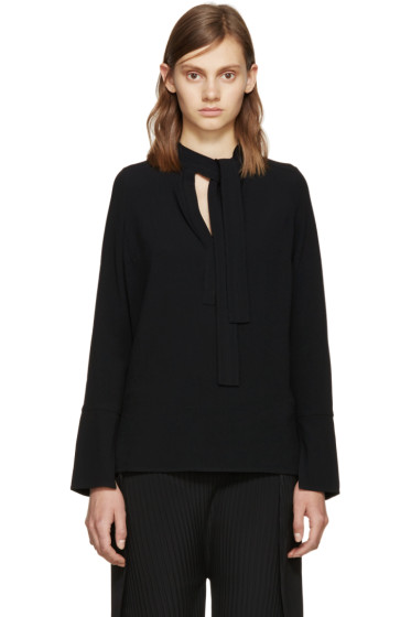 Proenza Schouler - Black Neck Tie Blouse