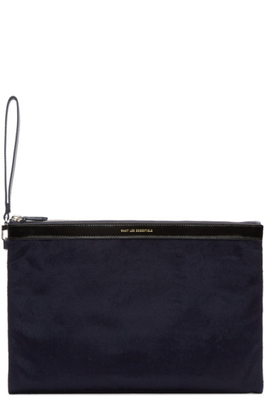 Want Les Essentiels - Navy Barajas Document Holder