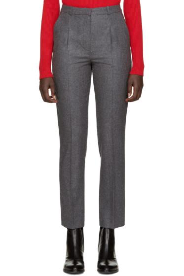 Carven - Grey Wool Flannel Trousers