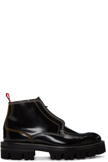 Carven - Black Contrast Stitch Boots