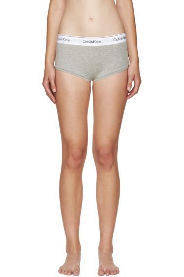 Calvin Klein Underwear - Grey Modern Boy Shorts