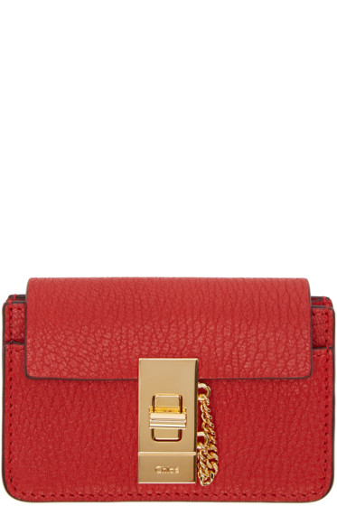 Chloé - Red Drew Card Holder